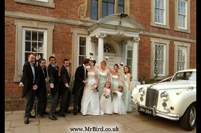 Bridal party at Forty Hall, Enfield