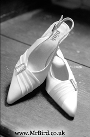 Bridal shoes in black and white
